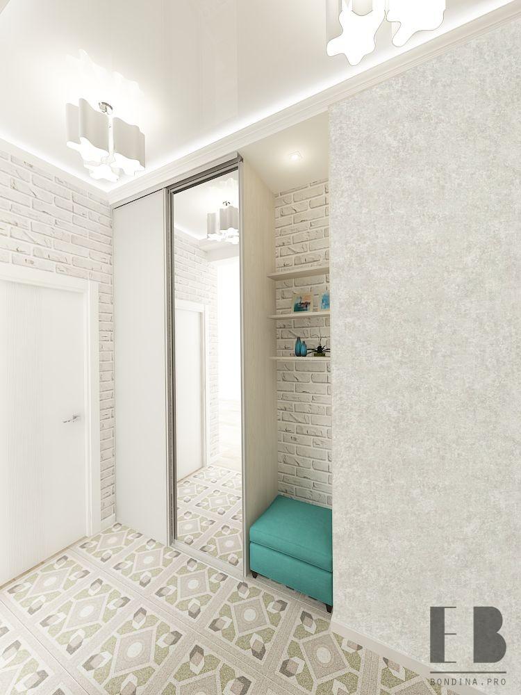 Hallway interior in white