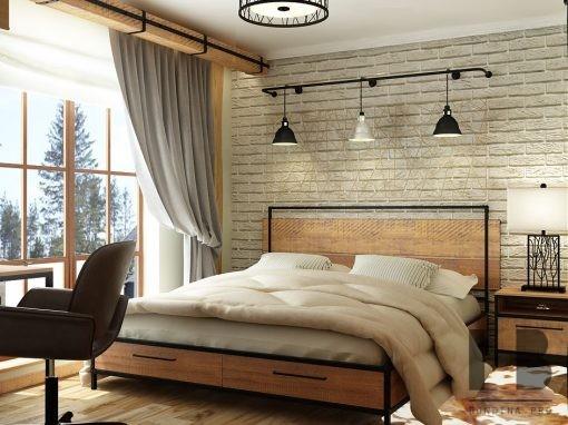 Спальня для подростка в стиле ЛОФТ
