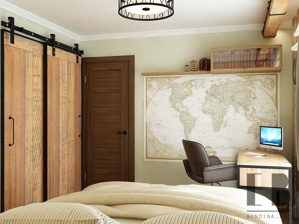 Интерьер спальни подростка в стиле лофт