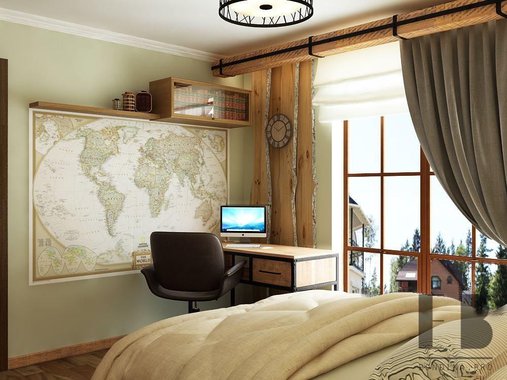 Loft style workplace interior design