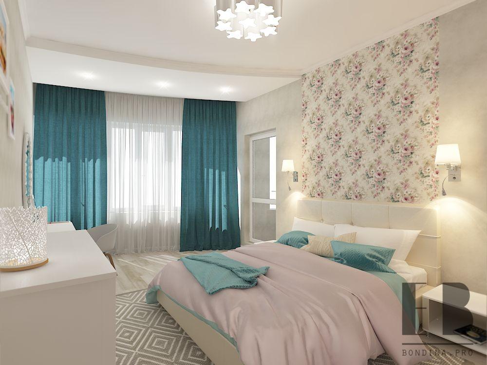 Bright bedroom design