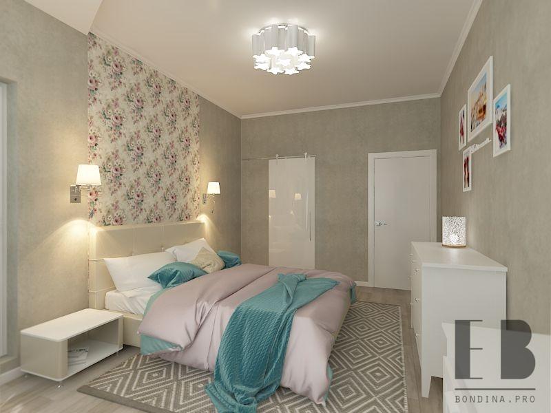 Bedroom design in bright colors