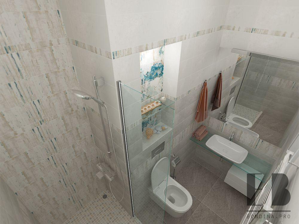 Beige bathroom design
