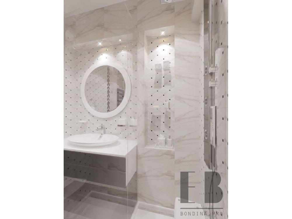 Белая ванная комната дизайн интерьера